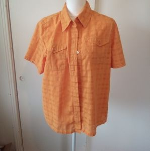 Alfred dunner plus size orange blouse size 14